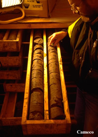 Uranium Core Samples