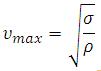Maximum Peripheral Velocity